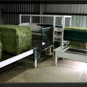Big Square Bale Slicing and De-Stacking Video