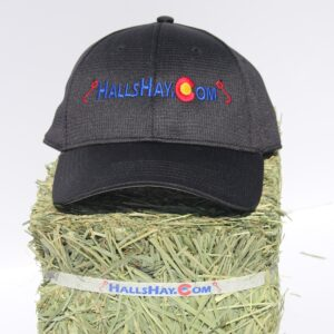 Black HallsHay.Com Air-Tech Performance Hat