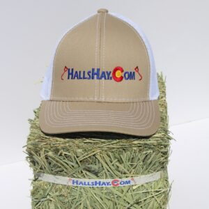 Tan / White HallsHay.Com Mesh Back Platinum Series Hat