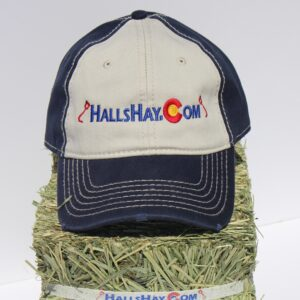 Navy / Khaki HallsHay.Com Washed Cotton Hat
